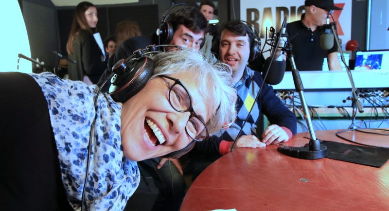 rossella faa in radio che sorride